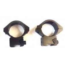 Крепление оптического прицела - кольца Ø25мм ласточкин хвост низкие тип-1