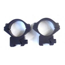 Крепление оптического прицела - кольца Ø25мм ласточкин хвост низкие тип-2