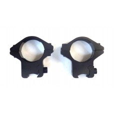 Крепление оптического прицела - кольца Ø25мм ласточкин хвост низкие тип-3