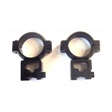 Крепление оптического прицела - кольца Ø25мм ласточкин хвост высокие тип-2