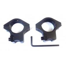 Крепление оптического прицела - кольца Ø25 ласточкин хвост низкие GAMO
