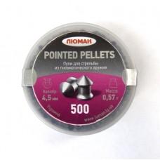 Пули пневматические ЛЮМАН Pointed pellets 0.57г 500 шт.
