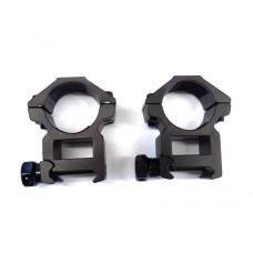 Крепление оптического прицела - кольца Ø25мм Weaver средние китай