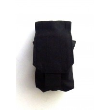 Подсумок под гранату РГД/РГО клапан липучка черный WARTECH