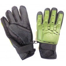 Перчатки с пластиковой защитой олива