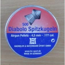 Пули пневматические H&N Diabolo Spitzkugeln 500 шт.