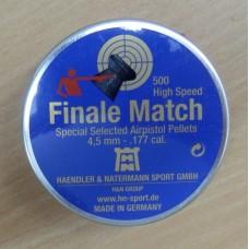 Пули пневматические H&N Finale Match (пистолетная) 500 шт.