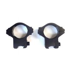 Крепление оптического прицела - кольца Ø25мм ласточкин хвост низкие тип-4