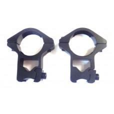 Крепление оптического прицела - кольца Ø25мм ласточкин хвост высокие тип-1