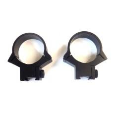 Крепление оптического прицела - кольца Ø30мм низкие ласточкин хвост