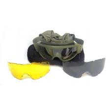 Очки защитные со сменными линзами Daisy TD-RK3 закрытые зеленые