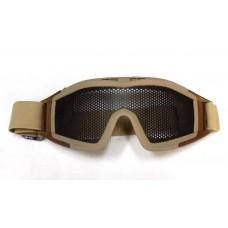 Очки защитные сетчатые большие TAN