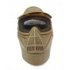 Маска защитная с сетчатыми очками на все лицо TAN