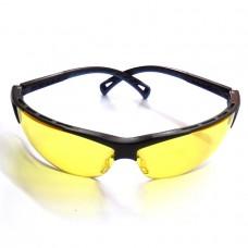 Очки защитные желтые регулируемые дужки ASG