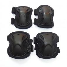 Комплект налокотников и наколенников черный X-SWAT