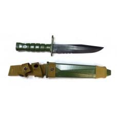Нож тренировочный M10 для М16 зеленый