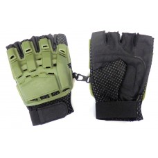 Перчатки б/п с пластиковой защитой олива