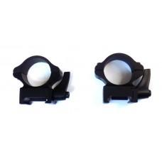 Крепление оптического прицела - кольца Ø25мм низкие Weaver быстросъемные