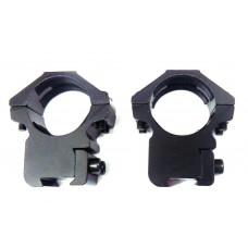 Крепление оптического прицела - кольца Ø25мм ласточкин хвост средние