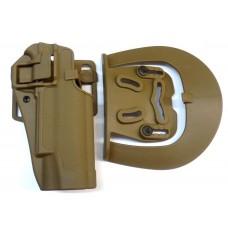 Кобура пластиковая SERPA Colt 1911 койот